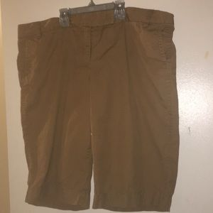 J.Crew City Fit khaki/brown shorts size 16 ladies